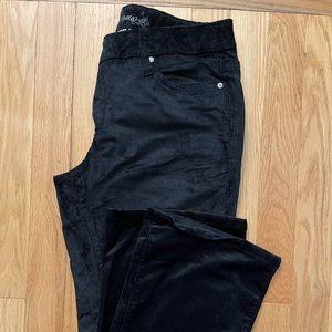 Ladies Flare Corduroy Velour Pants
